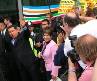 President Hugo Chavez in London | by Oblique Observations