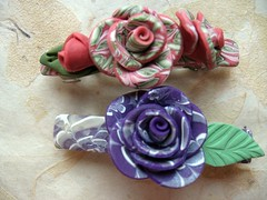 Barrettes - a little different! | by Linda-NKDesigns