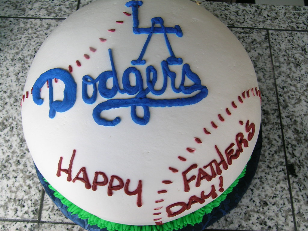 Enjoyable La Dodgers Cake Andrea Moreno Flickr Funny Birthday Cards Online Benoljebrpdamsfinfo