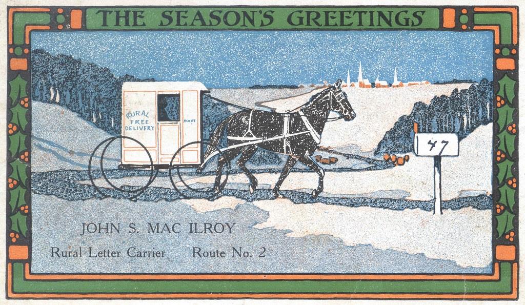 Rural Letter Carrier\'s Christmas Card | Description: Christm… | Flickr