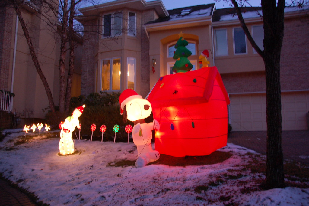 snoopy themed christmas decorations by chris devers