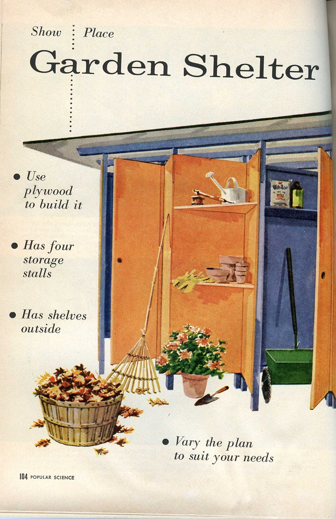 MidCentury Modern Garden Shed Plans Part 1 Fabulous DIY M – Modern Garden Shed Plans