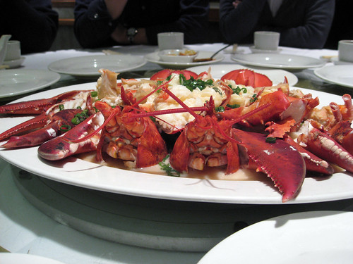 "Lobsters Steamed in Chinese Wine & Cellophane Noodles (And ""too many pictures?"" story) 