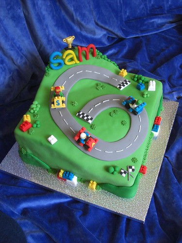 Sam's 6th Birthday ~ Lego racing car cake | by the-icing-on-the-cake. (Jo)