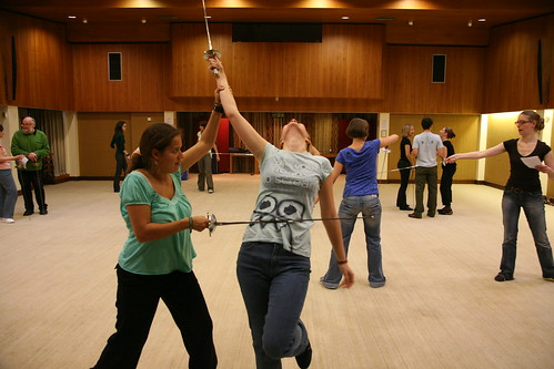 Shaespearean Stage Combat Class at the Shakespeare Center | by diejule