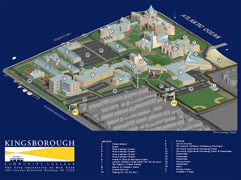 Kingsborough Community College Map Kingsborough College Campus Map | Rendering: The Drawing Stu… | Flickr Kingsborough Community College Map