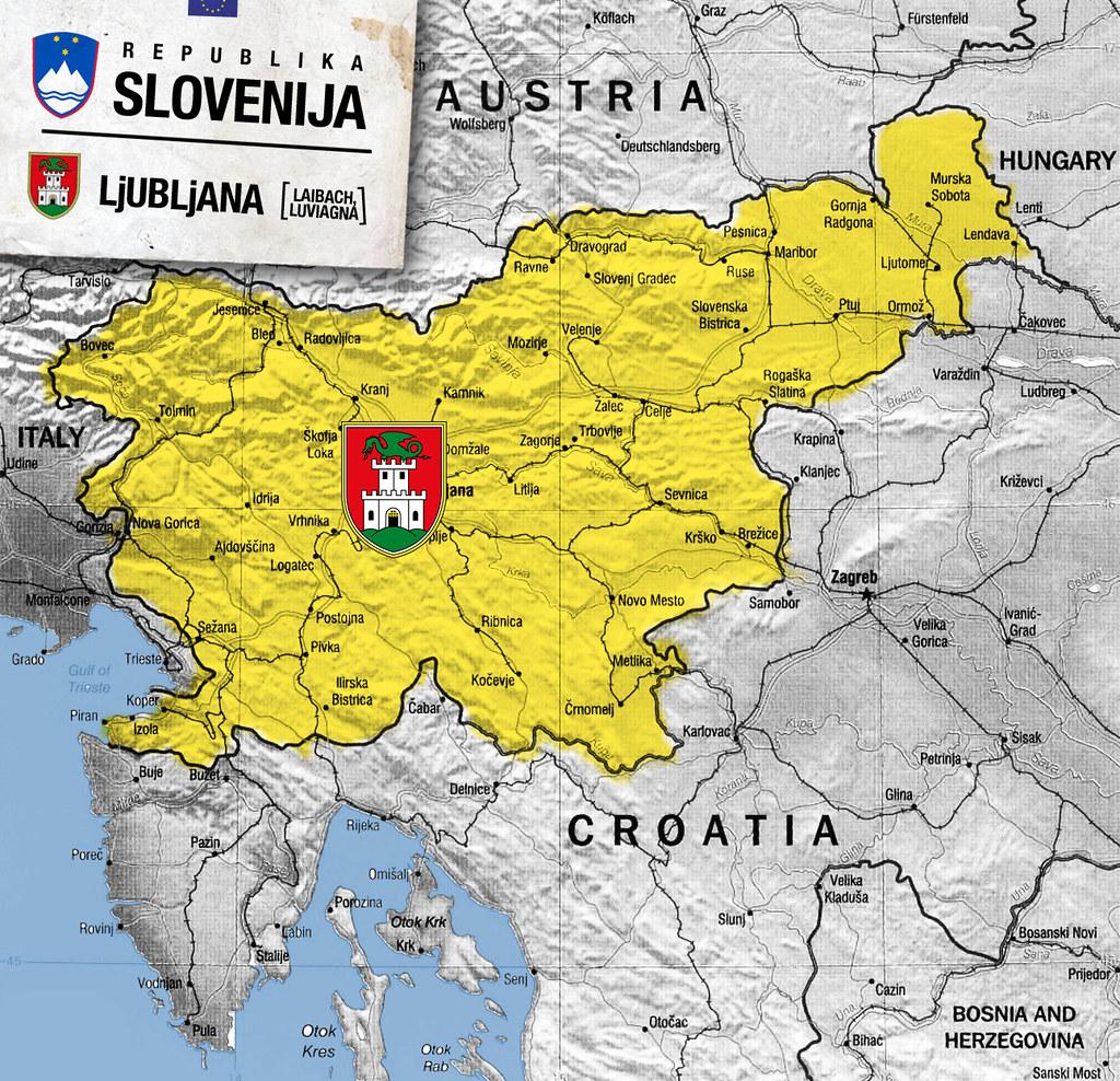 mapa slovenije Mapa Slovenije | lab604 | Flickr mapa slovenije