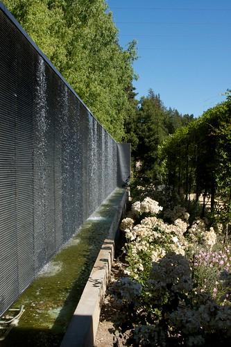 water wall hyatt vineyard creek hotel and spa scott. Black Bedroom Furniture Sets. Home Design Ideas