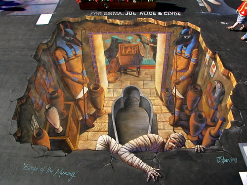 3D Street Painting - Escape of the Mummy | by Tracy Lee Stum