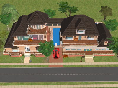 sims 2 homes - floor plans etc | store on the right, home on… | flickr