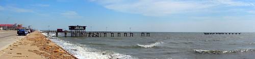 Galveston fishing pier hurricane ike went fishing 91st for Galveston pier fishing