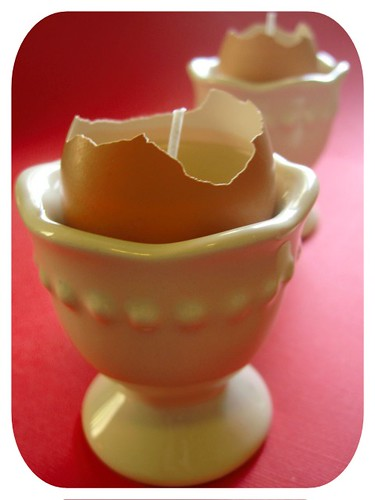 How to Create Candles from Eggshells