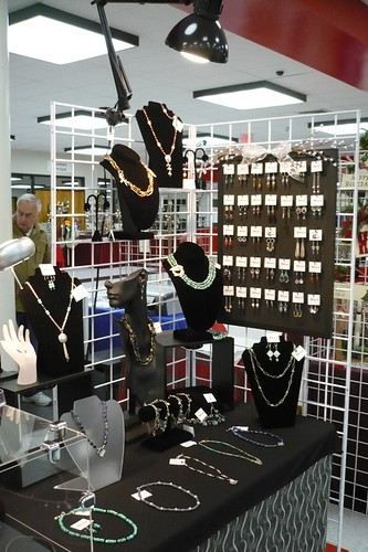 Right side with limited space i added grid walls and for Jewelry display trade show