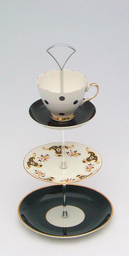 Black Cake Stand With Dome