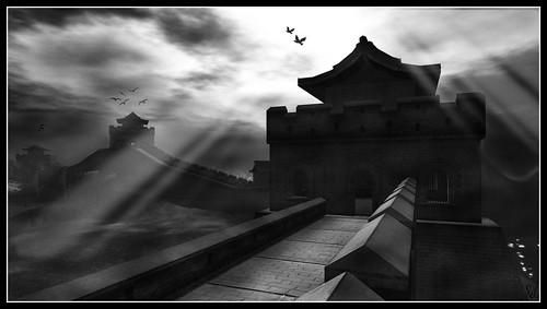La grande muraille noir et blanc 4 4 sim mao near Bureau blanc et noir