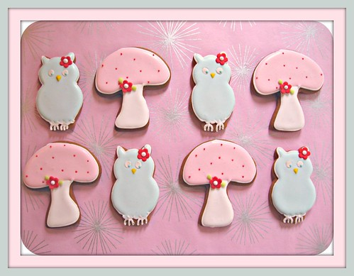 Baby Owl & Mushroom Gingerbread Cookies | by Pinks & Needles (used to be Gigi & Big Red)