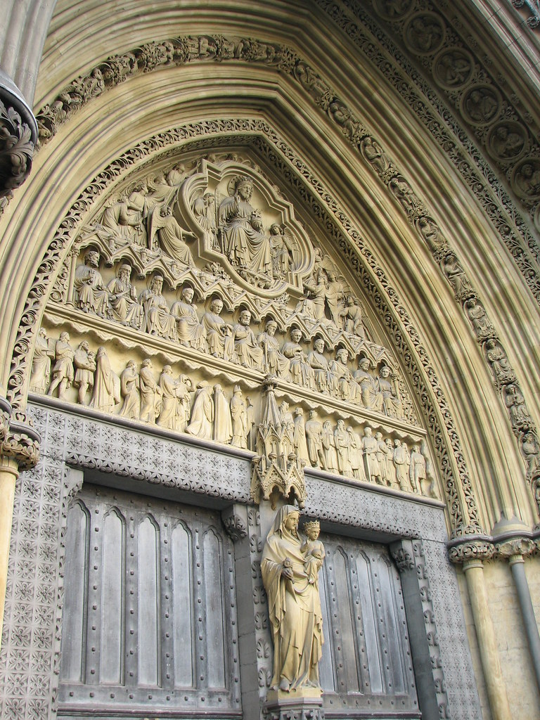 ... Westminster Abbey north door | by Lawrence OP & Westminster Abbey north door | The tympanum and statues at W\u2026 | Flickr Pezcame.Com