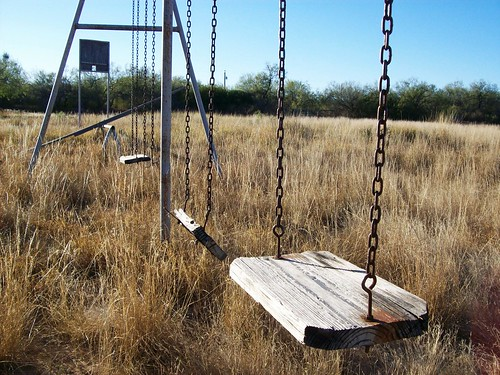 Abandoned swing set in the community park of Catarina ghost town, Texas  (catarina150) | by mlhradio