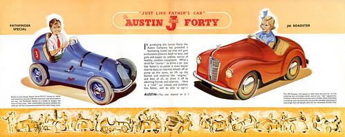 brochure design austin - austin j40 pedal car brochure vintage brochure for the