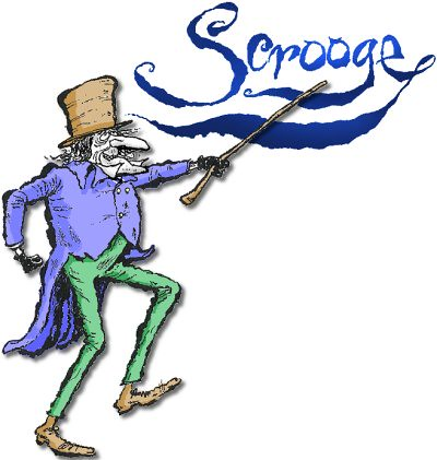 characters a christmas carol illustration of scrooge with title by johnny quixote