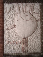 Father's Day quilt - detail | by PatchworkPottery