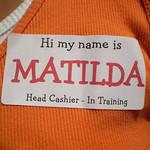 yard sale fun - name tag