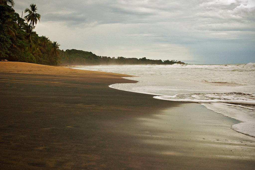 Black Sand Beach Manzanillo Costa Rica All Rights Re Flickr
