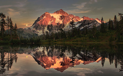Mount Shuksan at Sunset Crop #2 | by zingpix