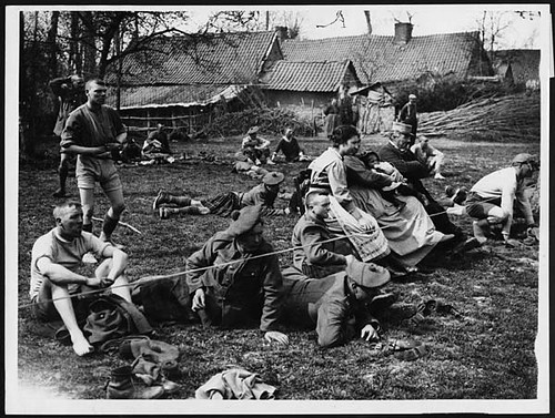 Spectators and competitors at a black watch sports day during world war i by