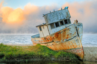 Shipwreck of Point Reyes at Twilight | by Orin Zebest