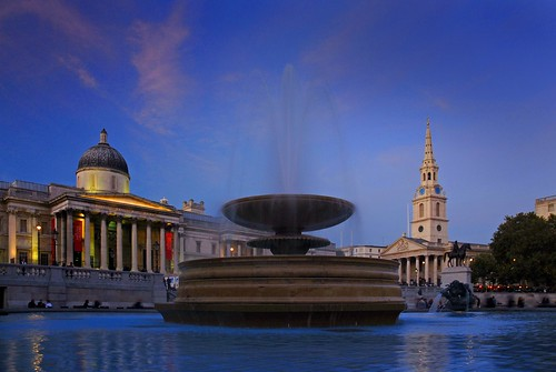 UK - London - Trafalgar Square at night - lighter | by Darrell Godliman
