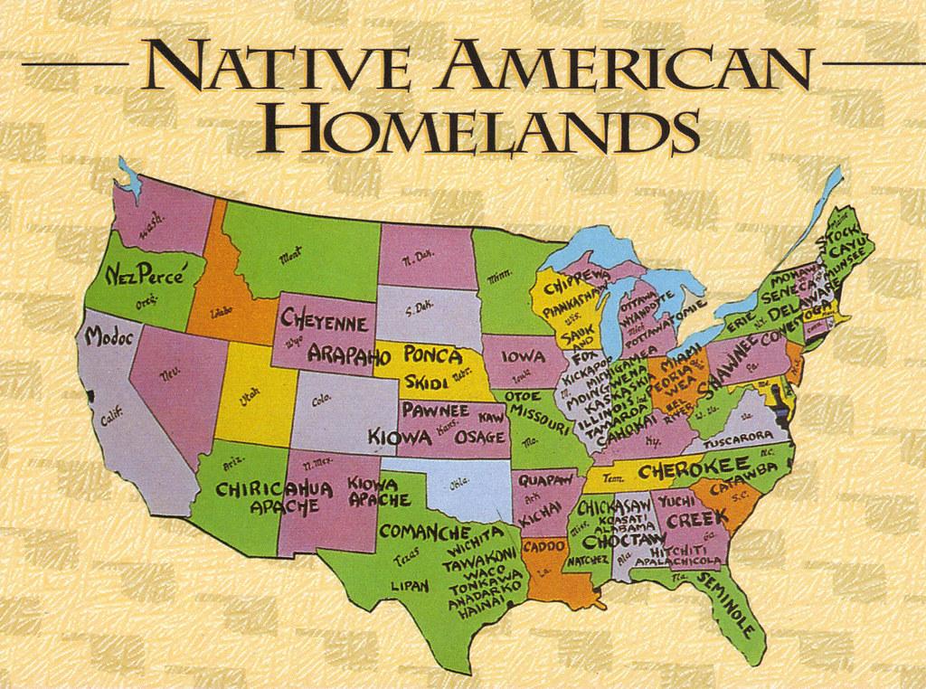 Native American Map Of America America Map