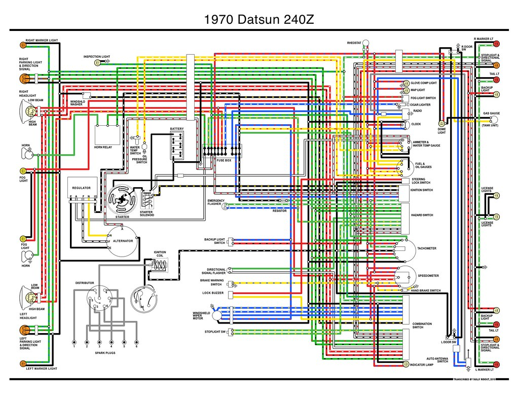 1970 Datsun 240z Wiring Diagram | i transcribed the only wir… | Flickr