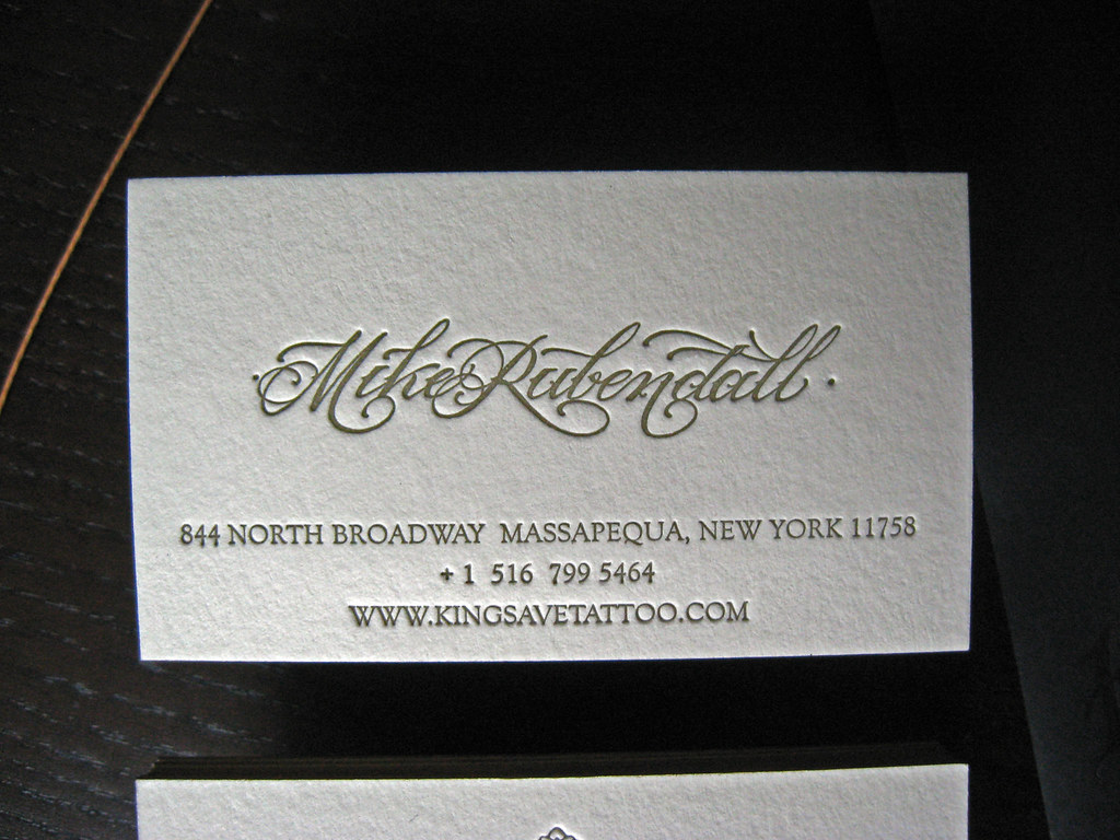 Kings Avenue Tattoo - Business Card Back | Client: Mike of K… | Flickr