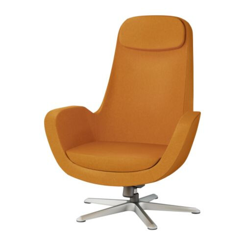 Superbe ... Ikea Karlstad Orange Swivel Chair | By Whorange