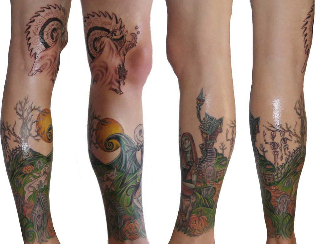 Nightmare Before Christmas Leg Sleeve : P5 | Nightmare Befor… | Flickr