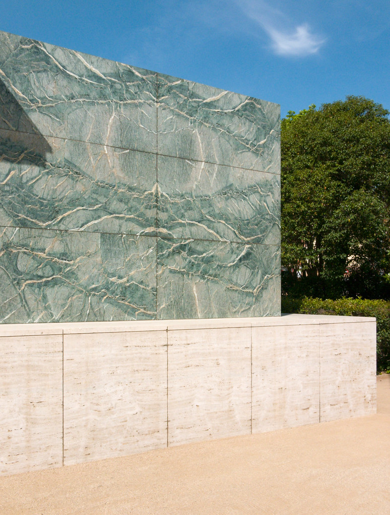 barcelona pavilion by faasdant barcelona pavilion by faasdant - Site Travertin Ba