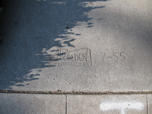 IMG_0093 Sidewalk stamp, contractor M. H. Golden, dated 7/1955 | by ww_whist