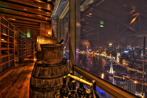 View from the top of the Hyatt on the Bund in Shanghai | by MDSimages.com