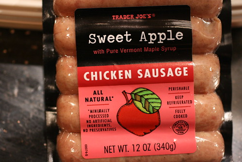 Sweet Apple Chicken Sausage | by FoodMayhem.com
