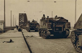 153rd Field Regiment Royal Artillery, crossing the Waal Bridge, Nijmegen 1944 | by Tim Pruyn