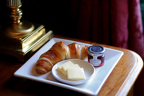 Breakfast Croissants at the Angel, Bury St. Edmunds, Suffolk, UK | by Lisa Bettany {Mostly Lisa}