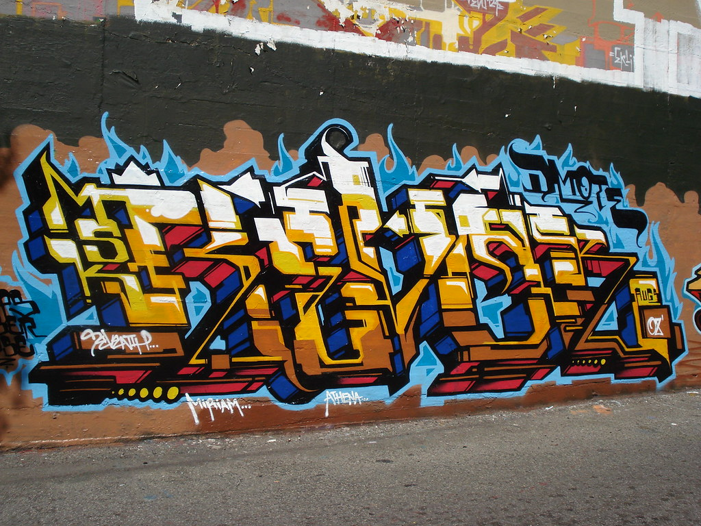 Graffiti art information -  Revok Msk Awr Seventhletter Losangeles Graffiti Art By Anarchosyn