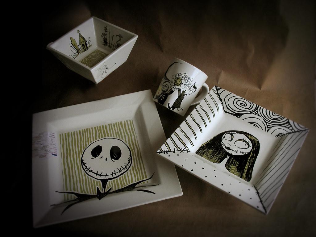 ... Nightmare Before Christmas Dinnerware Set | by Miehana & Nightmare Before Christmas Dinnerware Set | Ceramic
