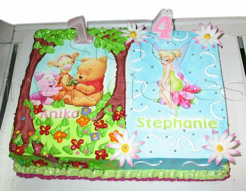 pastel personalizado tinkerbell winnie pooh de todo para t flickr