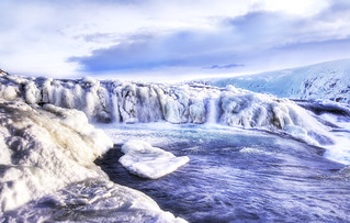 The Icy Stream Above the Waterfalls at Gulfoss | by Stuck in Customs