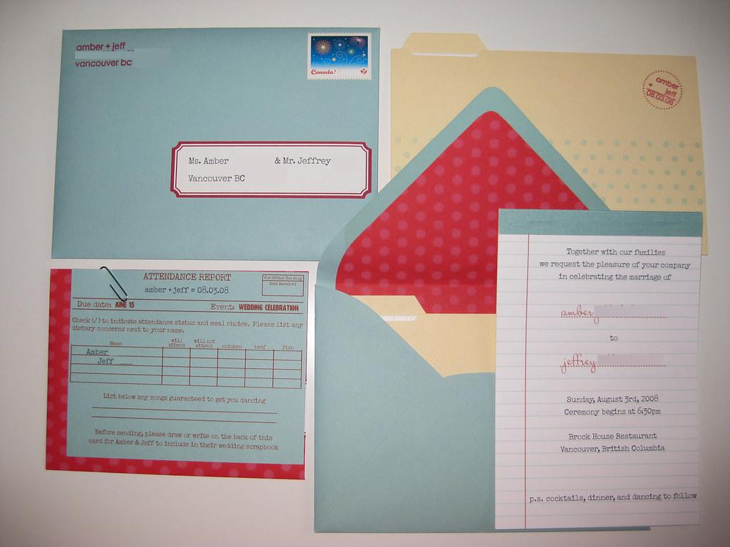 wedding diy & details | Our wedding invitation suite | Flickr