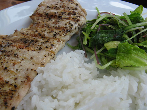 Lemony Grilled Chicken & Greens | by katbaro