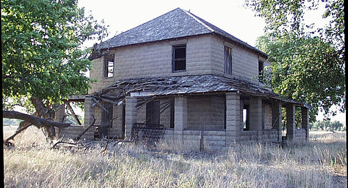Old Concrete Block House Near Haigler Neb Neat Old