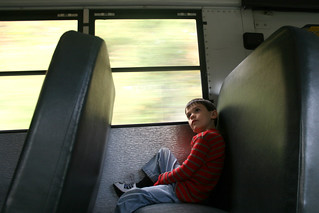 alone on the school bus | by woodleywonderworks